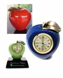 NEW! Faux Marble Custom Color Apples - With or without Imprint