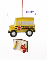 - School Bus or Teacher Dangle Ornament