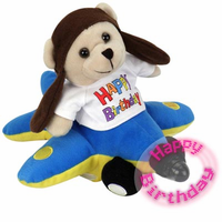 New Fun Birthday Airmail Singing Bear