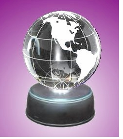 NEW! - Illuminated Crystal Globe