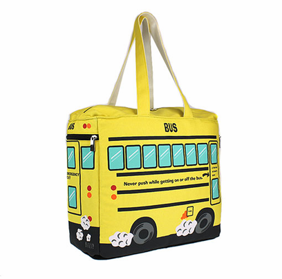 New - LARGE School Bus Tote/Diaper bag