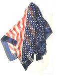 NEW! Large Square Patriotic Flag Scarf