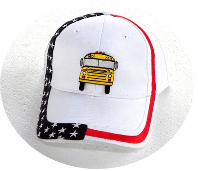 NEW! School Bus American Pride Cap-OUT OF STOCK!