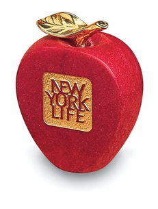Newton's Apple - Red Crushed Marble with Gold Leaf
