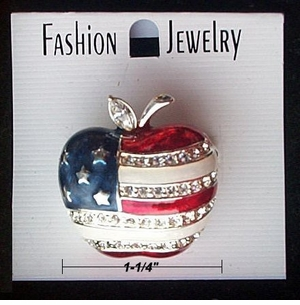 Patriotic Apple pin in 2 sizes