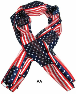 Patriotic & Texas Ladies Scarfs-9 Styles