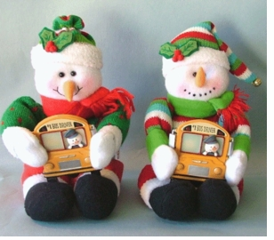 Personalizable School Bus Holiday Dash  Board Buddy