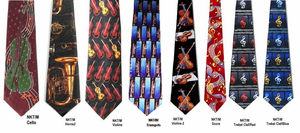 Poly Music theme Neckties