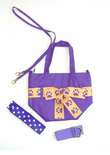 Purple / Gold Paw Print Purse