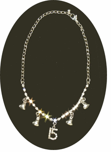 Rhinestone Quinceneara Heart Necklace - Special Purchase