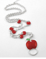Red Apple Teacher Lanyard/Eye Glasses Holder