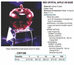 Red Crystal Apple on Base
