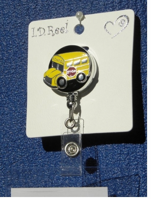 Retractible School Bus Badge Holder Reel - On Sale!