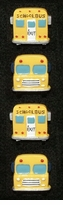 School Bus Button Covers, Earrings and Sets