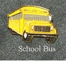 School Bus (Long Nose) Lapel Pin