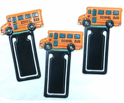 School Bus Novelty Book Marks - 3 pak
