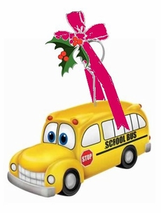 School Bus Photo Holder Ornament -Personalizable As low as $5.00 ea.