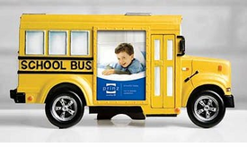School Bus Photo / Picture Frames - Choose from 4 Styles