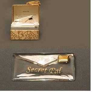 Secret Pal Gilded blown glass Messenger CLEARANCE!