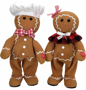 Singing GIngerbread Dolls - On Sale!