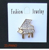 Small Rhinestone Piano Tac Pin