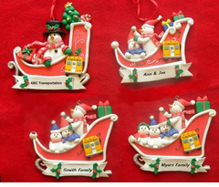 SNOW MAN COMPANY or FAMILY ORNAMENTS FOR SCHOOL BUS DRIVERS