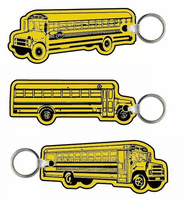 Soft Vinyl Imprinted School Bus Key Tags