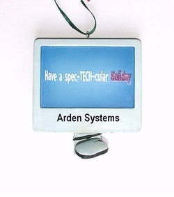"For that ""Spec-TECH-cular"" Geek! Personalizable  Christmas Ornament"