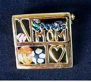 Sports Mom Pin - $4.95  CLOSEOUT! --only one left!