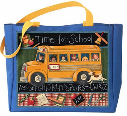 Susan Winget School Bus Tote