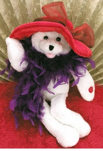 """Suzie"" the RED HAT Singing Bear is a girl who Just Wants to Have Fun!"
