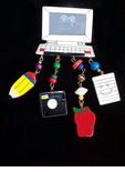 Wood Computer Dangle Pin - CLOSEOUT! $6.95