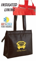WOW!!   INSULATED Hot & Cold Zipper Totes CLEARANCE Only $3.95!!  Low Minimum