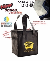 WOW!!   NEW DESIGN INSULATED Hot & Cold Lunch Totes SPECIAL Only $3.78!!  Low Minimum