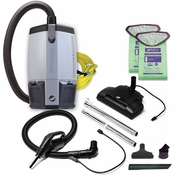 ProVac FS 6, 6 qt. Backpack Vacuum w/ Commercial Power Nozzle Tool Kit