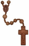 "15.5""  Rosary with 8mm Light Jujube Wood Beads, R3552"