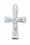 "2.0 cm SterlingSilver/Gold Crucifix with 18"" chain"