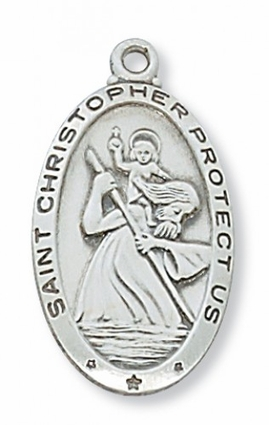 2.7cm  St. Christopher Saint Medal, Patron of Travelers