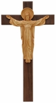 "20"" Risen Christ Crucifix with Walnut and Resin Corpus, WFR13"