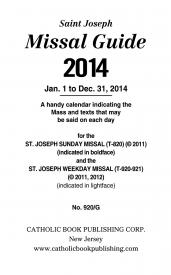 2014  Guides for the Liturgy of the Hours, Missal, or Christian Prayer