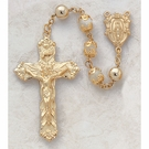22k Gold  Mother of Pearl Creed Rosary