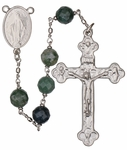 "24"" Chain-link Rosary with 8mm Jade Beads, R258"