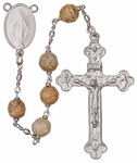 "24"" Chain-link Rosary with 8mm Jasper Beads, R1158"