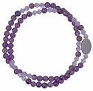 5 Decade Rosary Bracelet with 4mm Amethyst Beads, RBS71