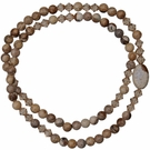 5 Decade Rosary Bracelet with 4mm Jasper Beads, RBS72