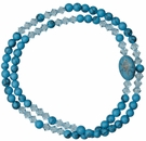 5 Decade Rosary Bracelet with 4mm Turquoise Beads, RBS70