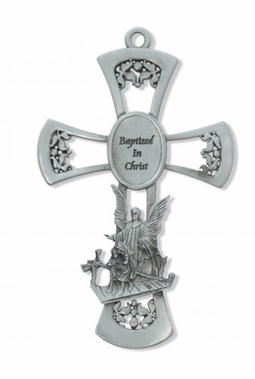 "6"" Pewter Baptized in Christ Wall Plaque  73-14"