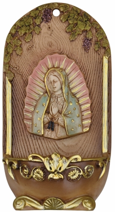 """7"""" Onyx Guadalupe Holy Water Font, OJ134"""
