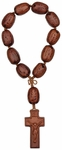 """8"""" 1-Decade Rosary with 20mm Water Lily Seed Beads, R3410"""