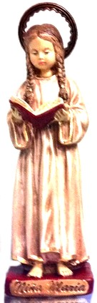"""8"""" Mary As A Child Statue"""